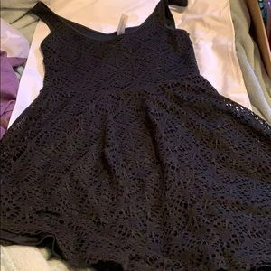 Aeropostale black lace mini dress